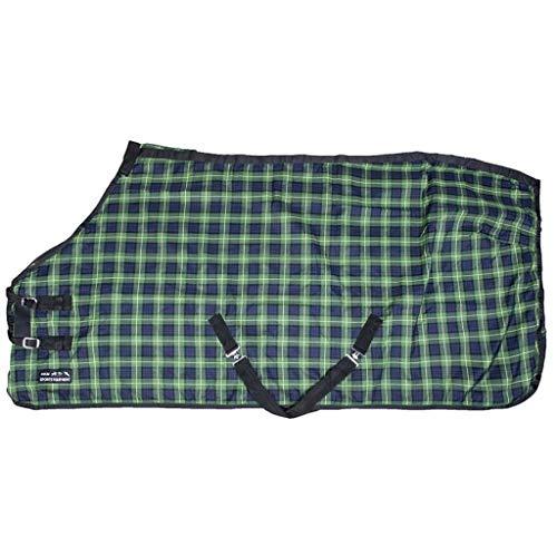 Stalldecke MINNESOTA HKM dunkelblau/grün karo 155cm