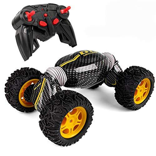 Nlatas Ferngesteuertes Auto RC, 4WD RC Auto Elektro Rennwagen Off Road RC Monster Truck Buggy 2,4 GHz hohe Geschwindigkeit mit Akkus - grün,Orange