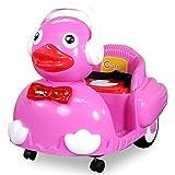 NEU Kinder ELEKTROENTE Elektroauto mit 2 x 12 Watt Motor Elektro Kinderauto Kinderfahrzeug (pink)
