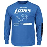 Detroit Lions Majestic NFL Primary Receiver 2 Long Sleeve Men's T-Shirt