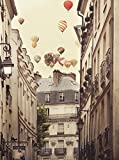 Close Up Flying Over Paris Kunstdruck Irene Suchocki (46cm x 60cm) + Original tesa Powerstrips® (1 Pack/20 Stk.)