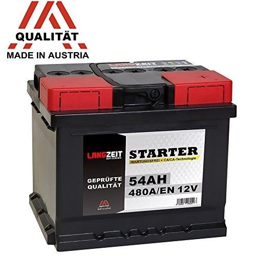 Preisvergleich Produktbild LANGZEIT Autobatterie 12V 54Ah ersetzt 44AH 45AH 46AH 50AH 52AH 53AH 55AH