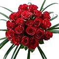 Blumenversand Deutschlandweit - 20 Stück Rote Rosen als Blumenstrauß mit Grässern arrangiert - mit Gratis Grußkarte verschenken und versenden von Blumenversand - Der Renner bei Du und dein Garten