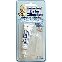 Nenedent Erste Zähnchen Zahncreme + Fingerzahnbürste, 15 ml