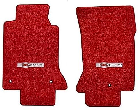 1997-2004 C5 Corvette Red 2pc Floor Mats - Z06 Logo by Lloyd Mats - Corvette Z06 Logo
