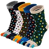 Teensokken Heren Sportsokken Vijf Vingersokken Katoenen Sneaker Sokken met 5 tenen, Toe Socks Men Five Finger Socks for Running Sports, 39-44, 5 paar