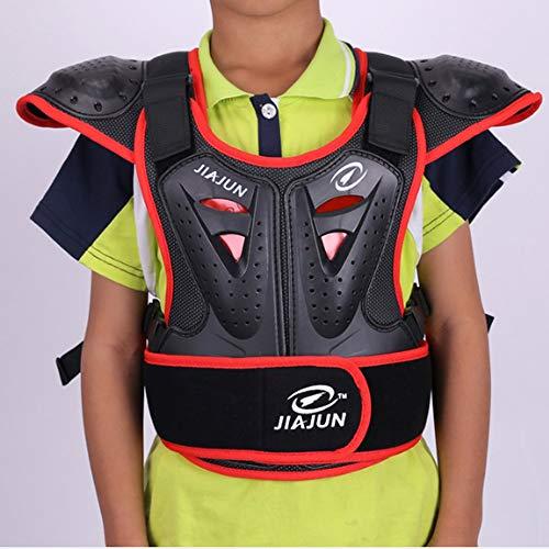 HBLWX Motorrad-Schutzweste, Off-Road-Panzer Anti-Kollisions- und bruchsicherer Brustrücken Protective Jacket-Ausrüstung Kind reitend,XL