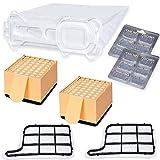 PREMIUM SPARSET - 12 Staubsaugerbeutel Microvlies + 2 Hepafilter + 2 Motorschutzfilter + 12 x Duft passend für Vorwerk - Kobold 135/136 / 135SC / VK135 / VK136
