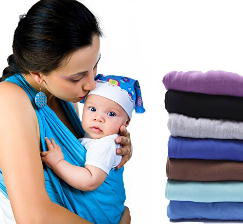 Baby Sling Carrier by feven- 100% panno di cotone fascianti Snug & Secure- comodo resistente all' usura Adatto a qualsiasi telaio lavabile in lavatrice wraps- Best Vettori e Imbracature per un neonato, neonati o
