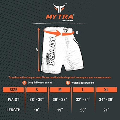 Mytra Fusion Pantaloncini Bermuda Tutte Le Arti Marziali: MMA, Kickboxing, Muay Thai, Combattimento in Gabbia, Grappling