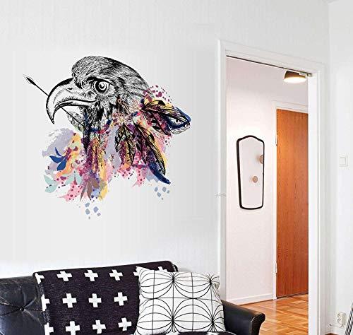 Wandaufkleber Wohnzimmer Wandaufkleber Schlafzimmer Wandaufkleber Kinderzimmer Diy Abnehmbare Mode Moderne Kreative Einfache Adlerkopf Wanddekoration Malerei 50 * 70 Cm