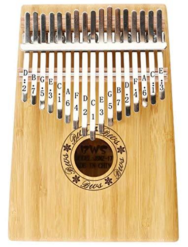 Thumb piano hi-smile 17 key kalimba, corpo in mogano thumb piano professionale finger piano marimba strumento musicale regalo -verde (color : bamboo)