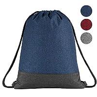 Segorts Unisex Gym Sack Drawstring Bag Water Repellency Sports Sackpack with Inside Zipper Pocket Travel Bag for Men Women