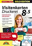 Produkt-Bild: Visitenkarten Druckerei 8.5 inkl. 60 Visitenkarten Papier Gratis- professionelle Visitenkarten gestalten und drucken für Windows 10 / 8.1 / 8 / 7