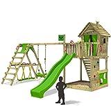 FATMOOSE Spielturm HappyHome Hot XXL Stelzenhaus Baumhaus Klettergerüst mit Schaukel