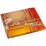 R.P. Spannbettlaken mit Ecken 100% Baumwolle Fantasia Stripe Light - 1 Piazza. Einzelbett Orange