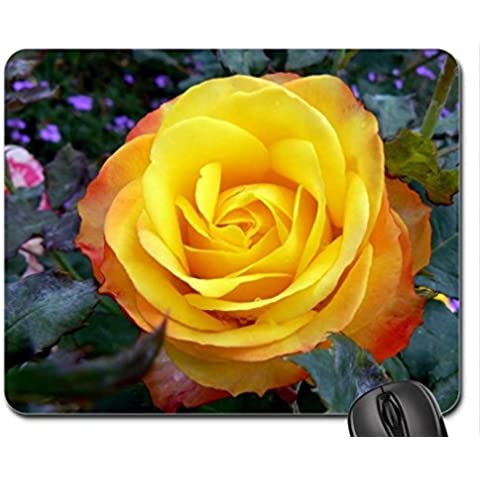 Tequila Sunrise Rose Mouse Pad, Mousepad (Flowers Mouse Pad)