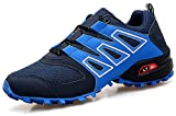 CAGAYA Herren Wanderhalbschuhe Rutschfeste Cross Country Laufschuhe Outdoor Schuhe Trekking Wanderschuhe Sneaker 39-46 (45, Blau)