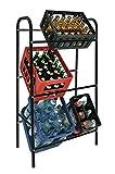 Flaschenkastenständer 6 Kästen Kastenständer Getränke-Kästen Ständer Getränkelagerung Schwarz