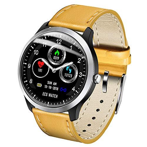 Reloj amarillo para hombre para deporte con pulsómetro