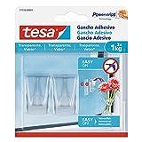 tesa 77735-00001-00 - Gancho adhesivo para superficies transparentes y vidrio (1 kg)
