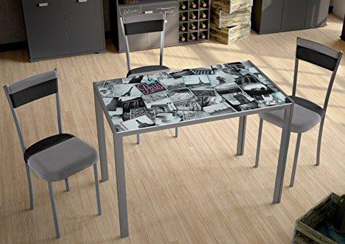 Mesa para cocina fija con tablero