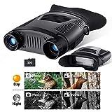 BEBANG Binoculares de Visión Nocturna, HD Digital Infrarrojo Caza Binoculares con Tarjeta de Memoria 32G, Grabadora de Video y Tomar Foto