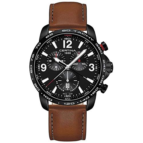 Certina Men's DS Podium 44mm Leather Band Quartz Watch C001.647.36.057.00