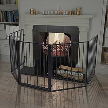 vidaXL Clôture pour cheminée en acier Noir Barrière de sécurité pour enfant bébé animal