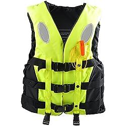 Schwimmwesten Rettungswesten für Kinder und Erwachsene, verschiedene Größen und Farben (Gelb, S)