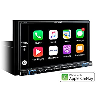 Alpine iLX-702D Bluetooth Media Receiver für Auto, Schwarz –Car Media Receivers (DAB +, FM, LW, MW, 87.5–108MHz, 153–281kHz, 17.8cm (7 Zoll), 800x 480Pixel, LCD)