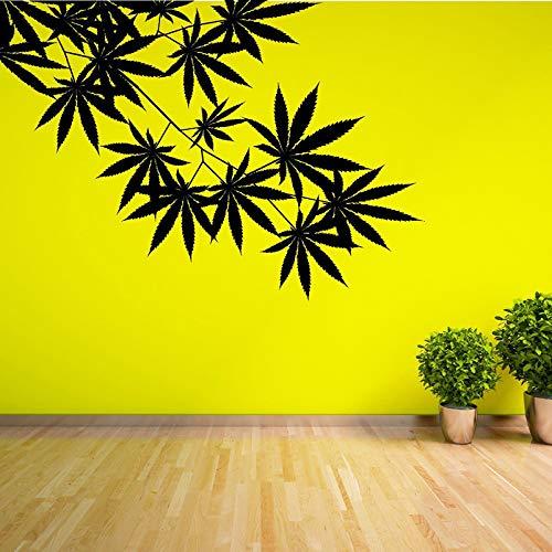 zqyjhkou Unkraut Baum Blatt Ahorn Hanf Blätter Vinyl Pflanze Wandaufkleber Für Kinderzimmer Wandkunst Aufkleber Wandbild Für Wohnzimmer Wohnkultur 118 cm x 83 cm - Ahorn Roll