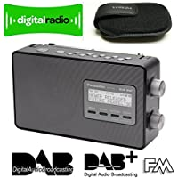 PANASONIC RF-D10 HIGH QUALITY PORTABLE DAB - DAB+ - SMART NETWORKING FM - 10 DIRECT STATION KEYS - CLOCK/TIMER - LARGE LCD DISPLAY - MAINS & BATTERY in BLACK INCLUDES SAMSUNG WALLET