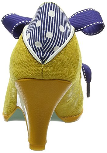 Poetic Licence by Irregular Choice Force Of Beauty, Escarpins femme Jaune (Moutarde)