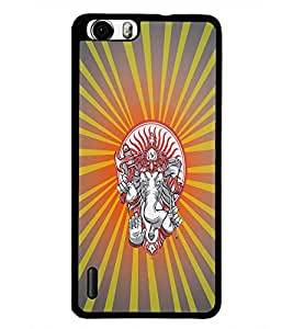 PrintDhaba Lord Ganesha D-4449 Back Case Cover for HUAWEI HONOR 6 (Multi-Coloured)
