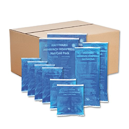 KK-Hygiene Kalt-Warm Kompressen Set Mehrfachkompressen 10 teiliges Set mit verschiedenen Größen (4x Klein, 2x Mittel, 4x Groß) mikrowellengeeignet - Kissen Mikrowellengeeignet