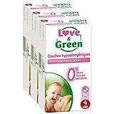 Love & Green ökologische Windeln, Größe 4 (7-14 kg), 3er Pack (3 x 46 Stück) Monatspackung