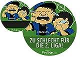 Effekt Aufkleber Sticker Urinal PEESIGN 'HAMBURG 2. LIGA' Urinal Spiel