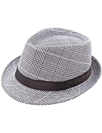 Thinkin England Retro Men s Fedoras Top Jazz Plaid Hat Spring Summer Autumn Bowler  Hats Cap Classic b60e64874ad3