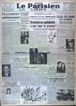 PARISIEN LIBERE (LE) [No 299] du 01/08/1945