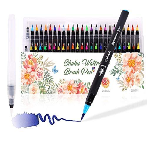 df4f7f6972b Ohuhu 48 colores Acuarela pincel rotulador con pincel para colorear con  agua