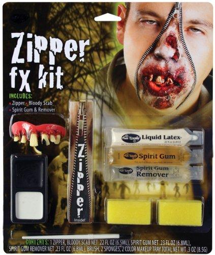 Zombie Reißverschluss für Halloween (Zipper Fx Makeup Kit)
