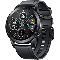 Honor MagicWatch 2 46mm Smart Watch, Fitness Activity Tracker with Heart Rate and Stress Monitor, Exercise Modes, 14 days standby and Built in Speaker and Microphone, UK Version - Black/Charcoal