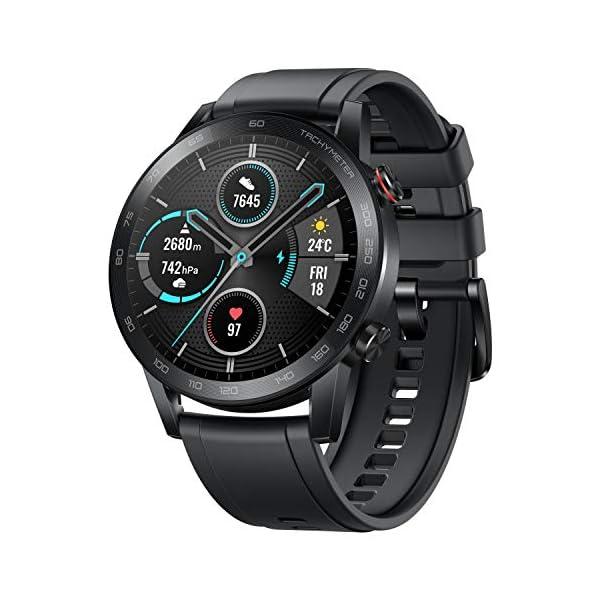 Honor MagicWatch 2 46 mm Smart Watch, con monitor de ritmo cardíaco y estrés, modos de ejercicio, aplicación para correr… 1