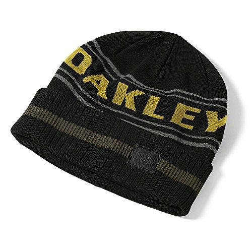 Oakley ROCKGARDEN Cuff Beanie Mütze, 01K-Jet Black, One Size Oakley Fine Knit Beanie