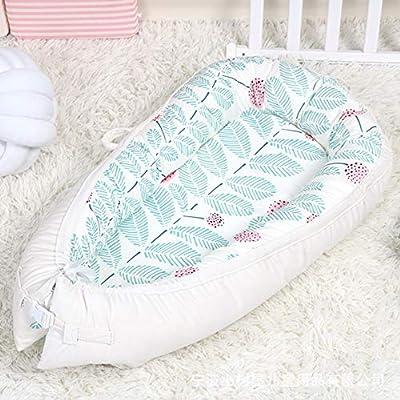 SXFYMWY Crib Beds Newborn Uterine Bed Multifunction Detachable Comfortable Breathable Cotton Velvet Baby Cot,White