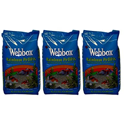 Webbox Floating Rainbow Pellets Carp Koi Pond Fish Food 30kg Deal