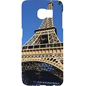 Casotec Eiffel Tower Design Hard Back Case Cover for Samsung Galaxy S6 Edge