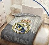 BABYCHISPITAS Colcha BOUTI Licencia Real Madrid (180X260) VALIDO para Cama DE 90 Y 105