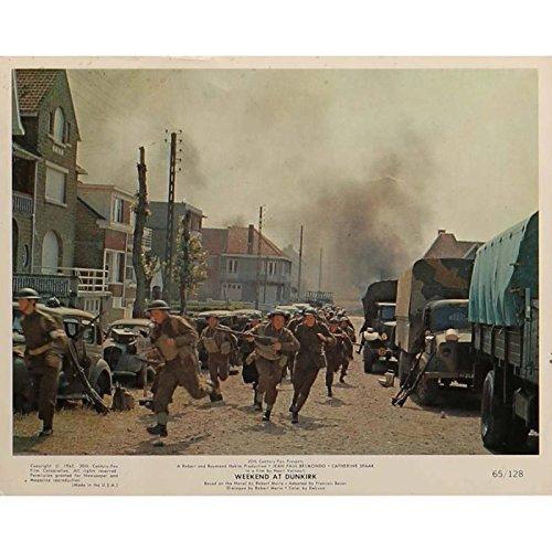 Tarjeta de fin de semana en Dunkerque vestíbulo N7de 8x 10en.–1964–Henri Verneuil, Jean-Paul Belmondo